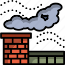 air, climate, home, living, pollution, smoke icon