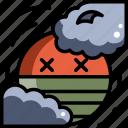 air, climate, environment, pm2.5, pollution, sun icon
