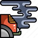 air, car, exhaust, pollution, smoke, vehicle icon