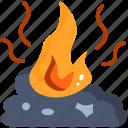 ash, fire, burn, smoke, garbage, pollution icon
