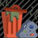 bin, environment, garbage, pollution, trash, waste