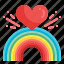 love, lgbt, rainbow, heart, pride