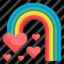 rainbow, spectrum, nature, atmospheric, weather