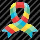 ribbon, lgbt, pride, lesbian, rainbow