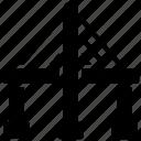 bridge base, constructed overpass, millau flyover, millau viaduct, suspension bridge icon