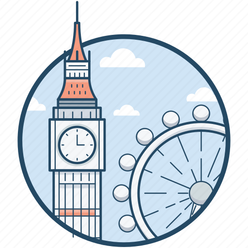 big ben, ferris, london, london eye, millennium icon