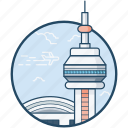 building, canada, cn building, cn tower, monument icon