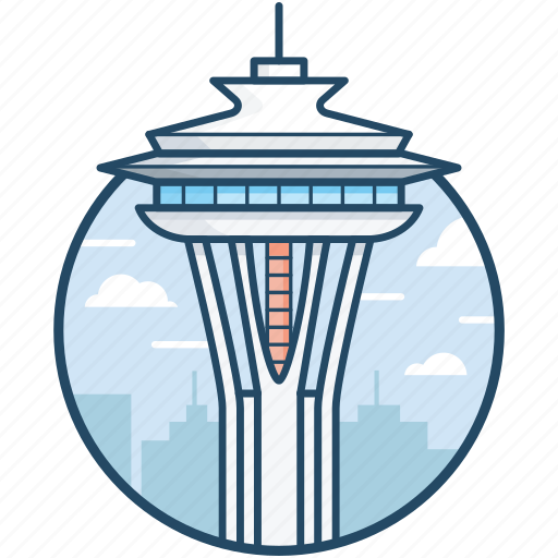 kerry park, queen anne hill, seattle, space needle, washington icon