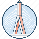 boston, bunker hill memorial bridge, zakim bridge, zakim bunker hill bridge icon