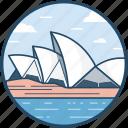 australia, landmark, opera, opera house, sydney