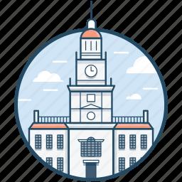 independence hall philadelphia, independence national historical park, national park, philadelphia, united states icon