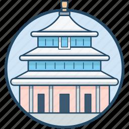 beijing, china, forbidden city, forbidden temple, meridian gate icon