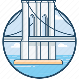 oregon, portland, st johns bridge, united states, willamette river icon