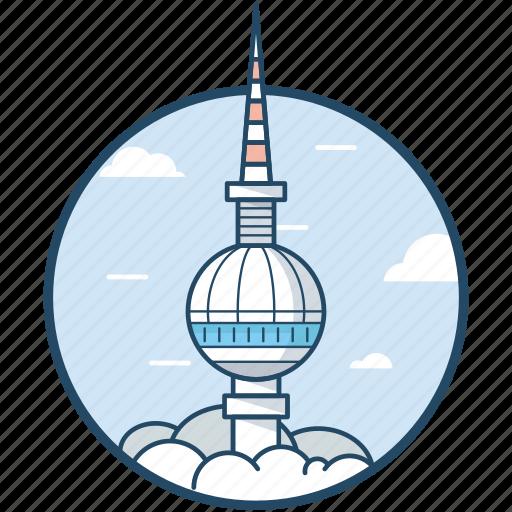 Berlin ball tower, berlin, germany, berlin tv tower, alexanderplatz icon