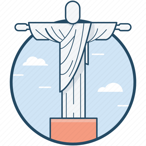 brazil, christ the redeemer, jesus christ, statue icon