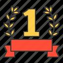 award, first, garland, laurel, winner, wreath icon