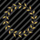 award, garland, laurel, wreath icon