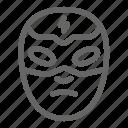wrestling, mask, face, wrestler, fighter icon