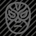 man, fighter, luchador, wrestling, wrestler, mask icon