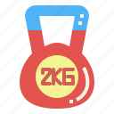 exercise, gymnastic, kettlebell, weightlifting icon