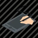 d482, digital, graphics, isometric, object, pen, tablet