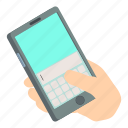 isometric, message, notebook, object, paper, phone, write
