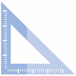 ruler, scale icon