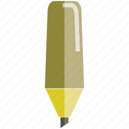 highlighter, marker, pencil, writing icon