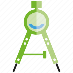 compass, divider, tool icon