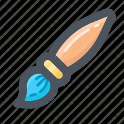 brush, draw, edit, paintbrush, tools, write icon