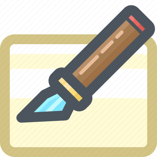 cutter, draw, edit, tools, write, writing icon