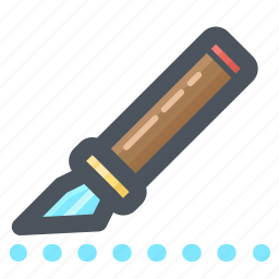 cutter, draw, edit, tool, write, writing icon