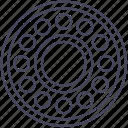abrasion, bearing, bicycle, wsd icon