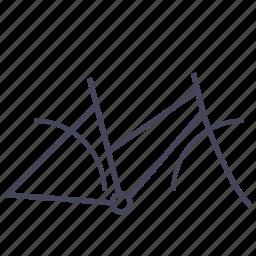 base, bicycle, frame, woman, wsd icon
