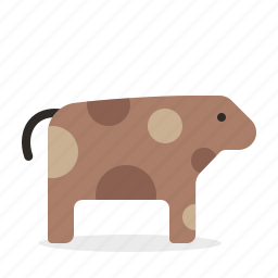 agriculture, animal, cow, dairy, farming icon