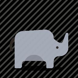 animal, mammal, rhino, zoo icon