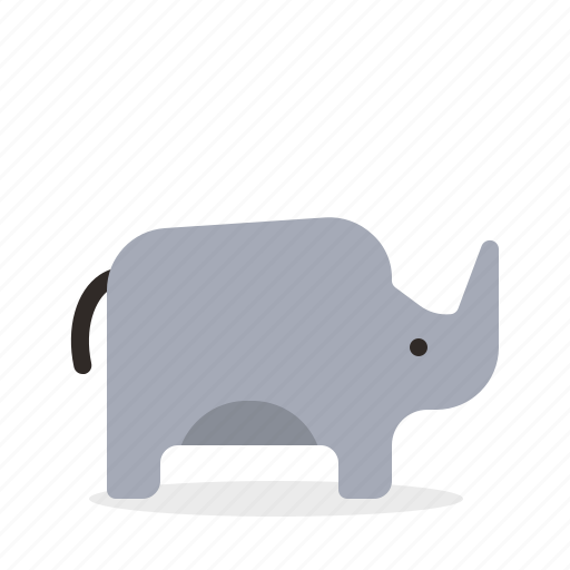Rhino, animal, mammal, zoo icon - Download on Iconfinder