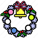 celebration, christmas, holiday, party, winter, wreath, xmas icon