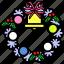 celebration, christmas, holiday, party, winter, wreath, xmas icon
