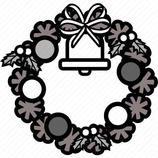 celebration, christmas, holiday, party, santa, wreath, xmas icon