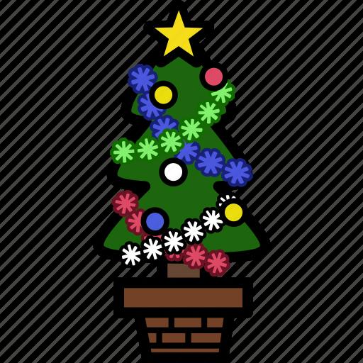 christmas, holiday, plant, santa, tree, winter, xmas icon