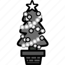 christmas, holiday, plant, santa, tree, winter, xmas icon
