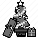 christmas, holiday, present, santa, tree, winter, xmas icon