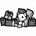 christmas, decoration, present, prize, santa, winter, xmas icon