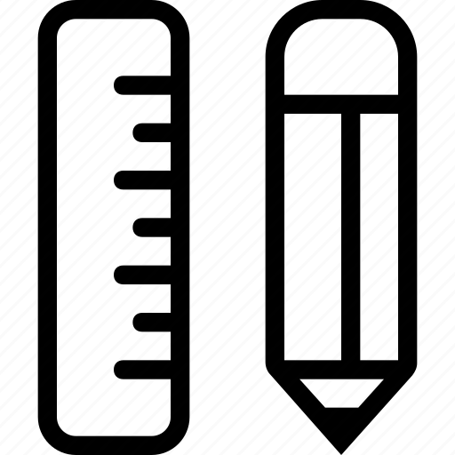 concept, design, draw, edit, graphics, pencil, rule icon