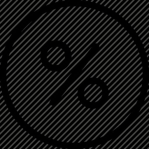 business, cash, finance, percent, sale icon