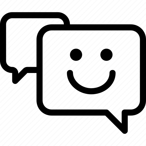 chat, conversation, message, messager, smile icon