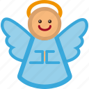 angel, christmas, decoration, holiday, xmas icon