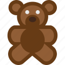animal, baby, bear, teddy, toy icon
