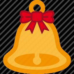 bell, christmas, ribbon, santa icon